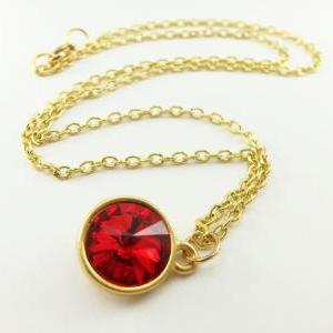 Candy Apple Red Necklace Gold Jewel..